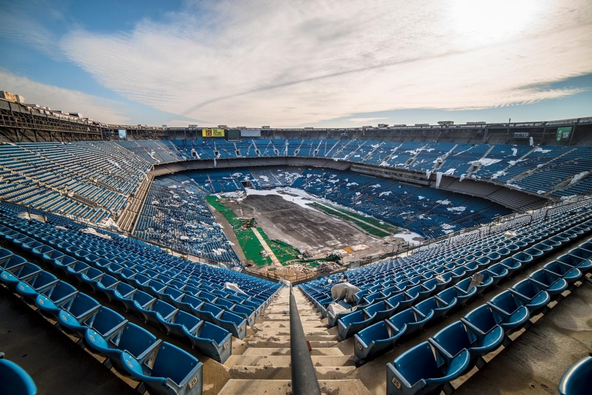 The Abandoned Pontiac Silverdome Stadium Architectural