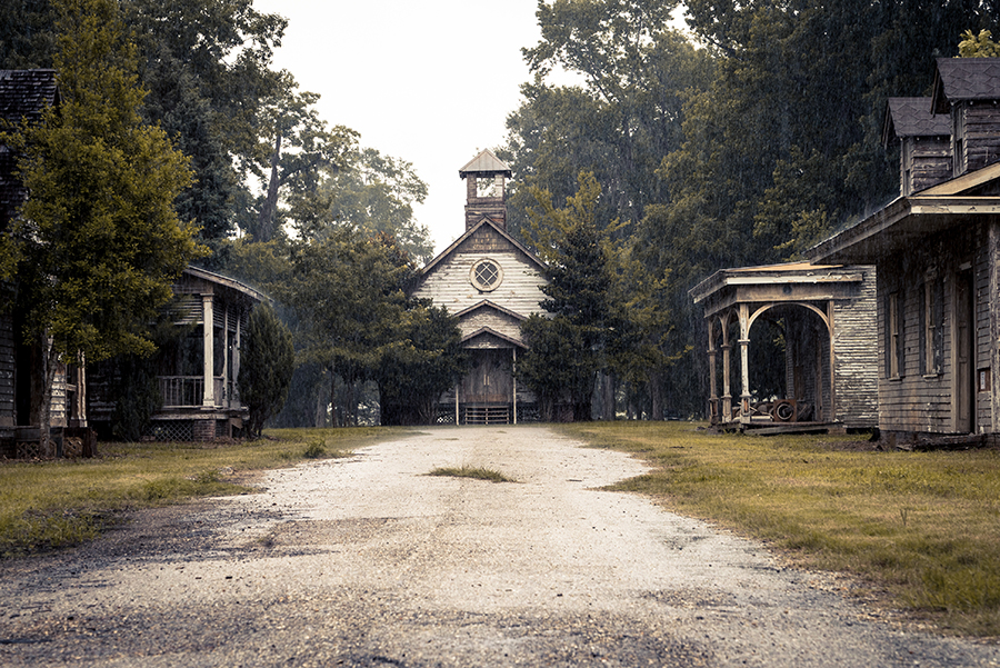 Abandoned town