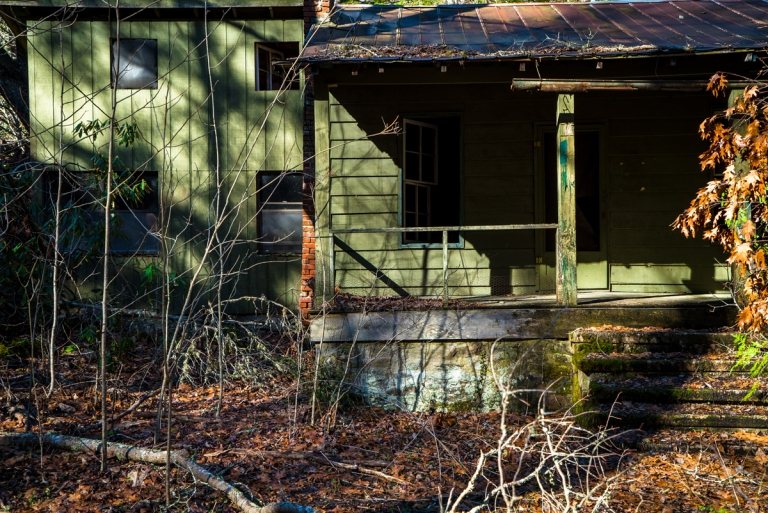 Abandoned Resort Cabins in the Smoky Mountains Tennessee