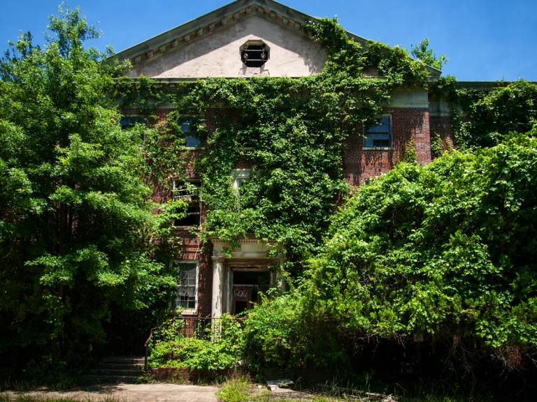 Abandoned Overgrown Asylum