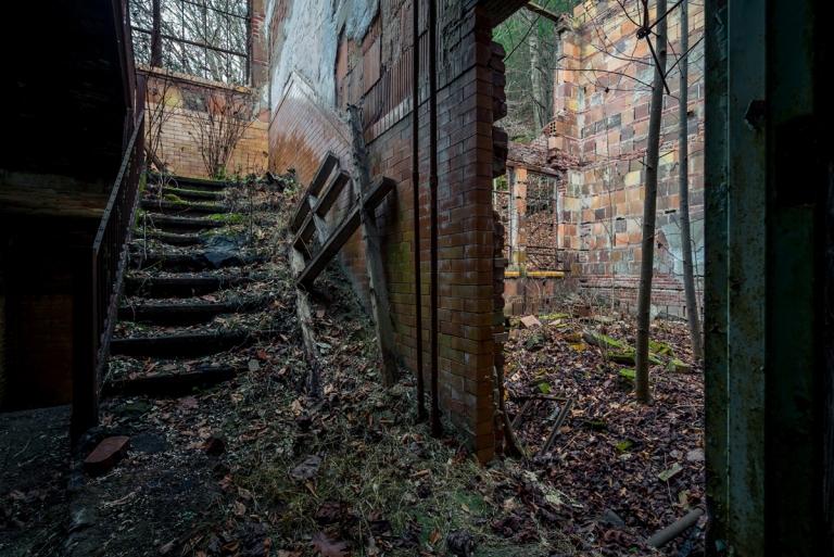 Abandoned Overgrown Coalwood High School 2