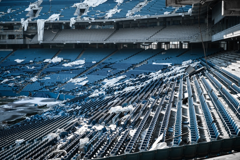 The Abandoned Pontiac Silverdome Stadium Architectural