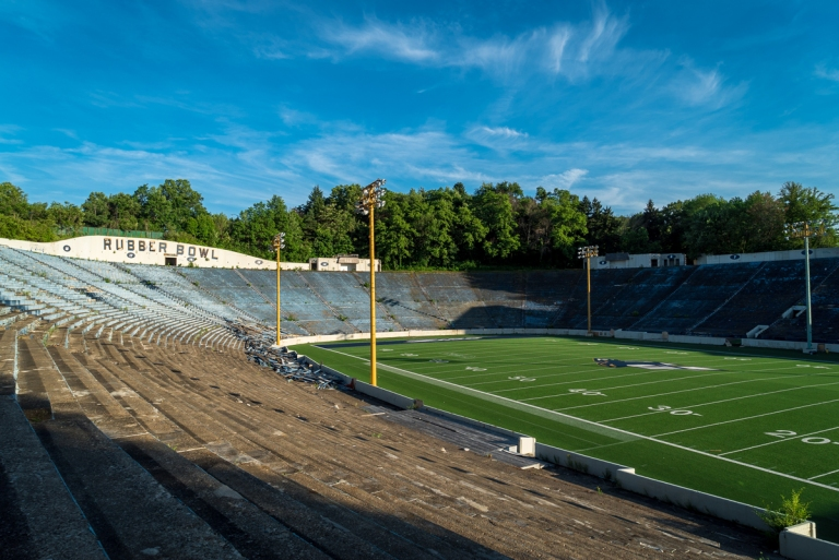 Akron Rubber Bowl Stadium Abandoned 1