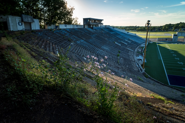 Akron Rubber Bowl Stadium Abandoned 15