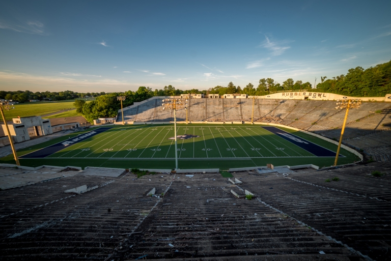 Akron Rubber Bowl Stadium Abandoned 22