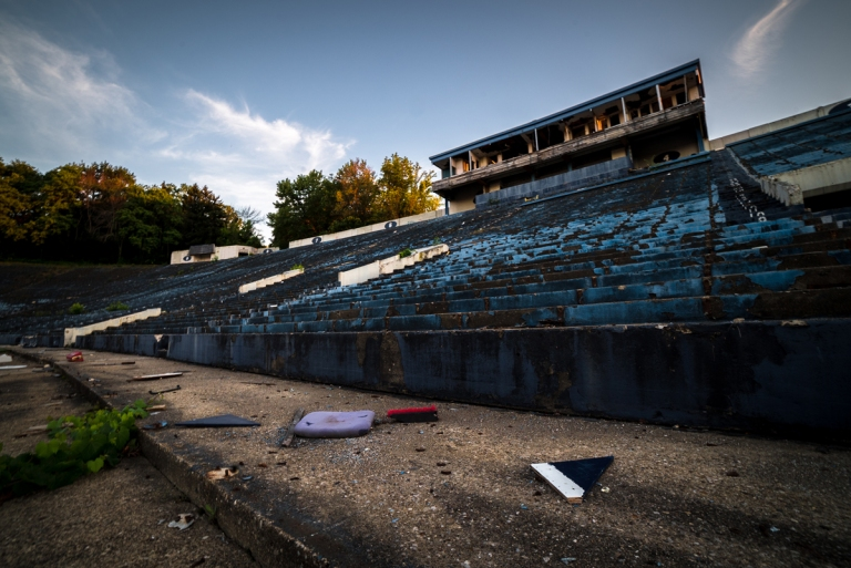 Akron Rubber Bowl Stadium Abandoned 29