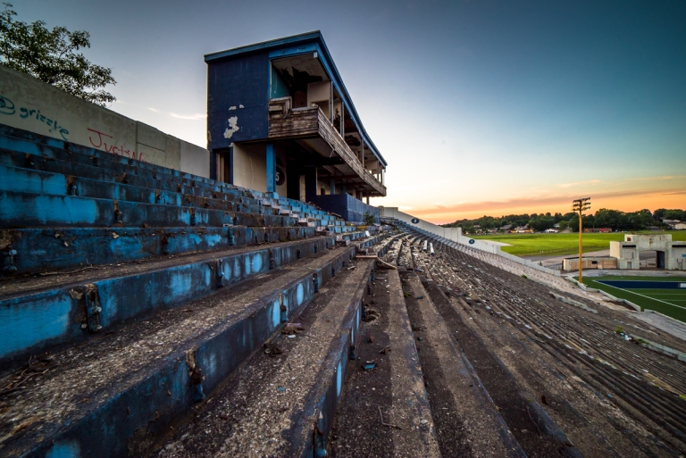 Akron Rubber Bowl Stadium Abandoned 38