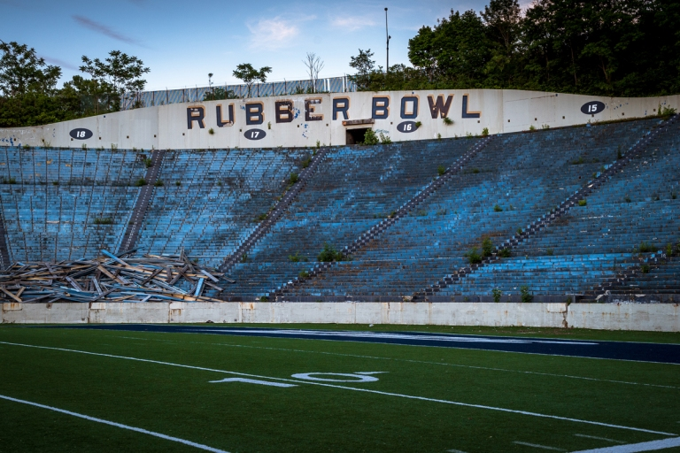 Akron Rubber Bowl Stadium Abandoned 39